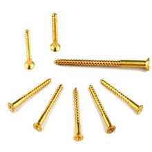 BRASS PLATED WOODSCREWS